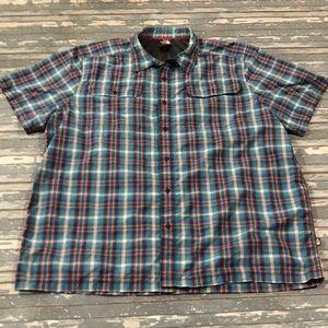 🔥 The North Face mens XXL blue plaid shirt
